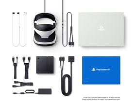 Dette er alt det som følger med i PlayStation VR-pakken. Merk at PlayStation Camera ikke er med.