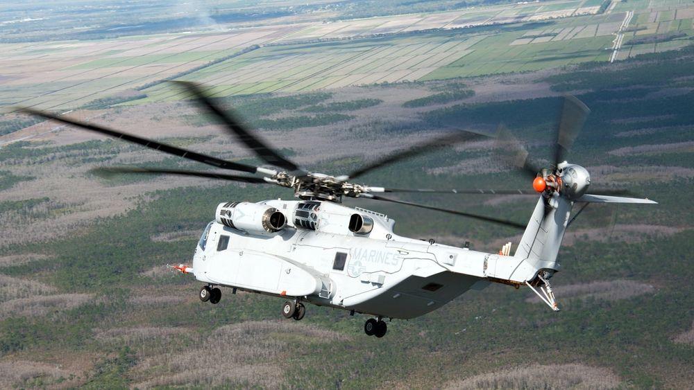 Dette CH-53K-testhelikopteret fløy første gang 27. oktober 2015.