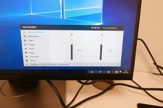 Menyene på Dells nye skjerm er enkle å bruke.