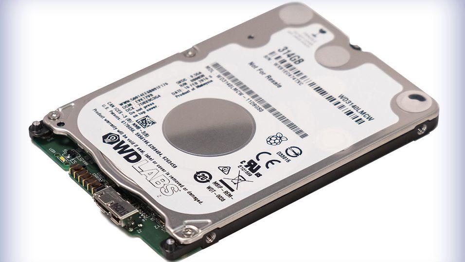 Dette er den nye PiDrive-disken på 314 GB.