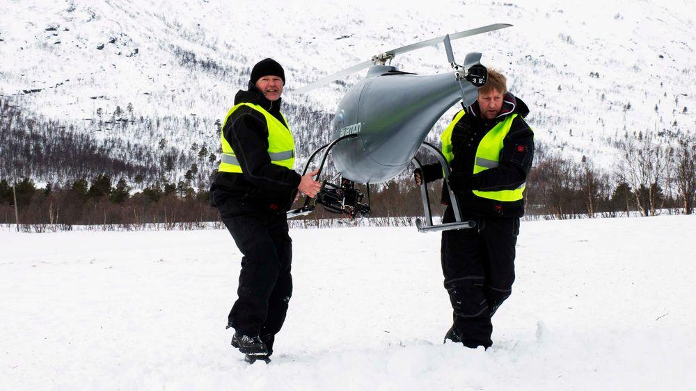 artikler presser kraftige jobbdroner til sitt ytterste i norsk fjellheim