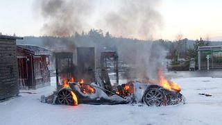 Tesla-brannen skyldtes kortslutning