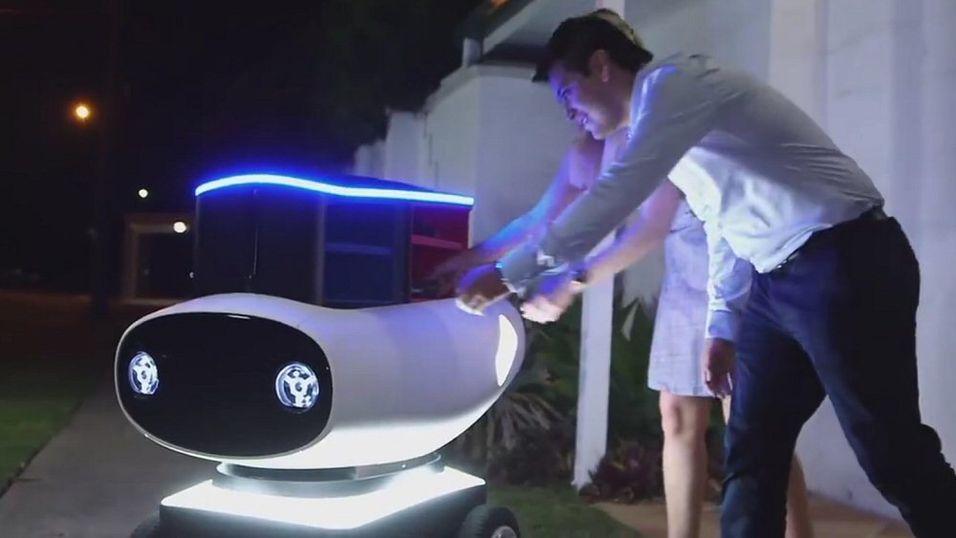 Roboten DRU skal levere pizza