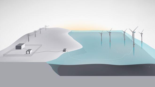 Statoil: Lagrer strøm fra flytende vindturbiner i nytt batteri-system