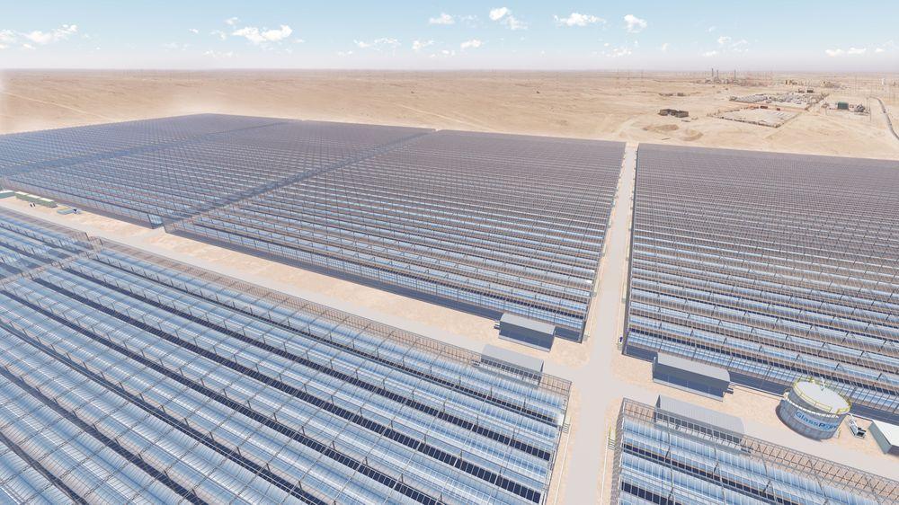 Solfangeranlegget Miraah-at-Amal skal ha en installert effekt på rundt 1 GW når det etter planen står ferdig i 2017.