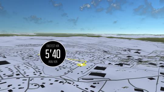 Movescount-appen lager automatisk en liten filmsnutt fra løpeturen din.