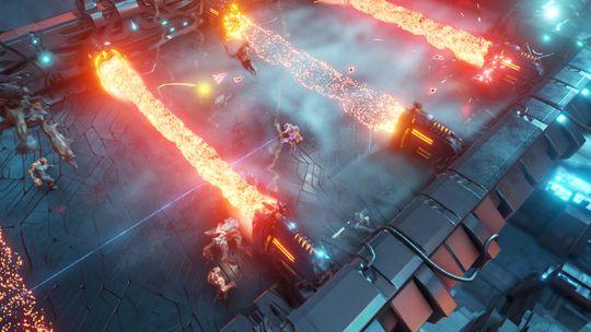 Flammer og lasere er det nok av.