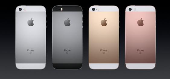 iPhone SE får samme design som iPhone 5S, dog med noen nye farger.