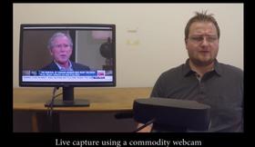 George W. Bush måtte også i ilden i demonstrasjonsvideoen.