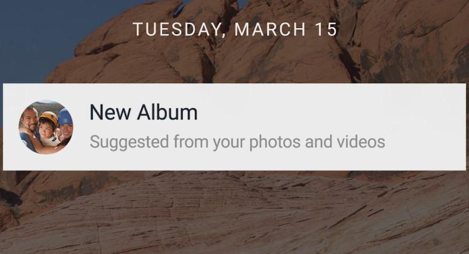 Får du opp denne varslingen har Google Photos laget et smart album til deg.