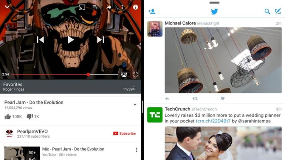 YouTube har fått støtte for Split View og Slide Over.