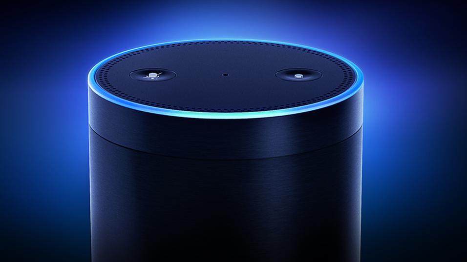 Det er uvisst hvordan Googles smarthøytaler vil se ut, men selskapet har allerede utpekt Echo, her avbildet, som hovedkonkurrent.