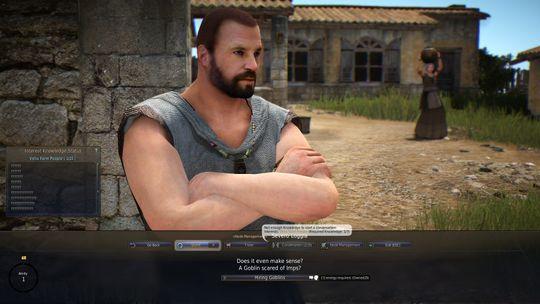 Vil du snakke med karakterene i spillet? Det koster energi, takk!