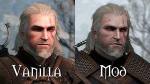Geralt får et mer fremmed utseende.