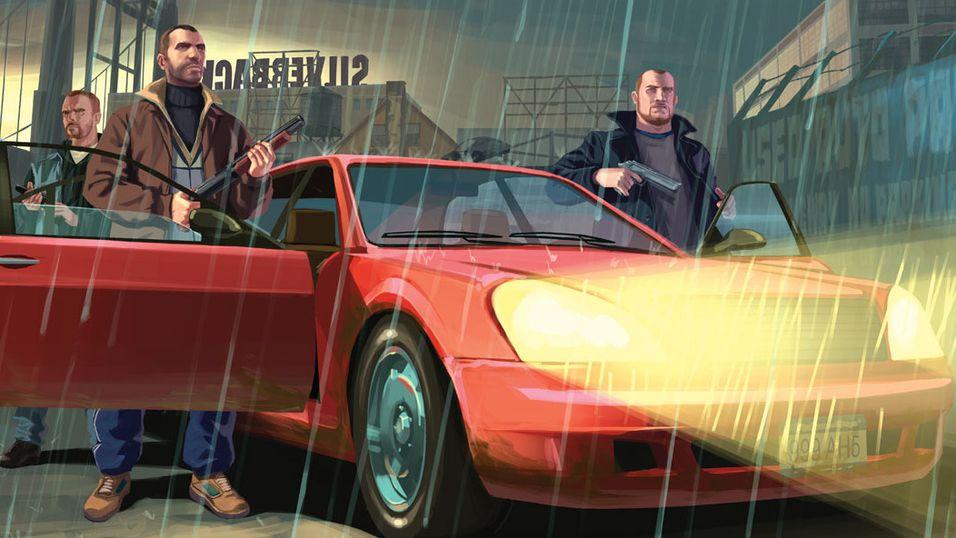 Konseptkunst fra Grand Theft Auto IV.