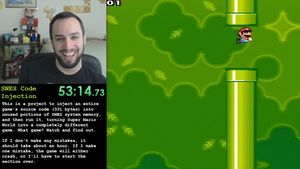 På bare én time programmerer han Flappy Bird i Super Mario World