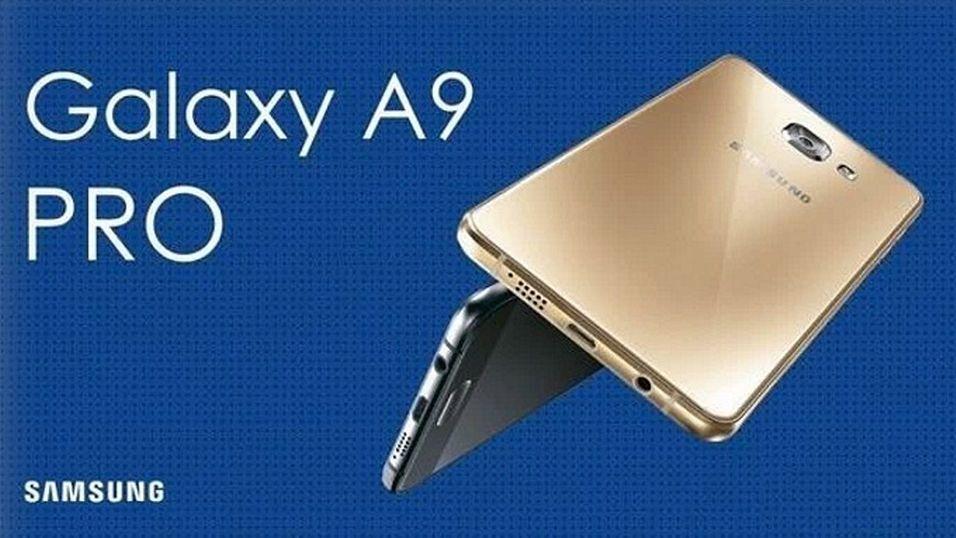Dette offisielle lanseringsbildet av A9 Pro er sluppet av Samsung i Kina.