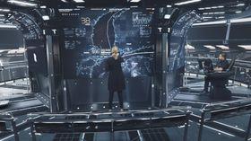 Kapteinen på land har kommandoen over en hel flåte mannskapsløse skip og kan følge dem og får fram ønsket informasjon på interaktive skjermer.