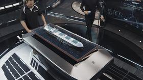 Mannskapet på land kan ta fram 3D-modell og hologram av hvert enkelt skip..