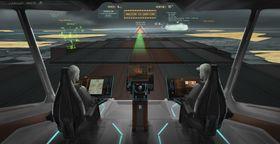 Rolls-Royce har utviklet Unified Bridge som et steg på veien mot fjernstyring av skip. Fra en broløsning på land kan kaptein og styrmenn tilsynelatende være til stede om bord.