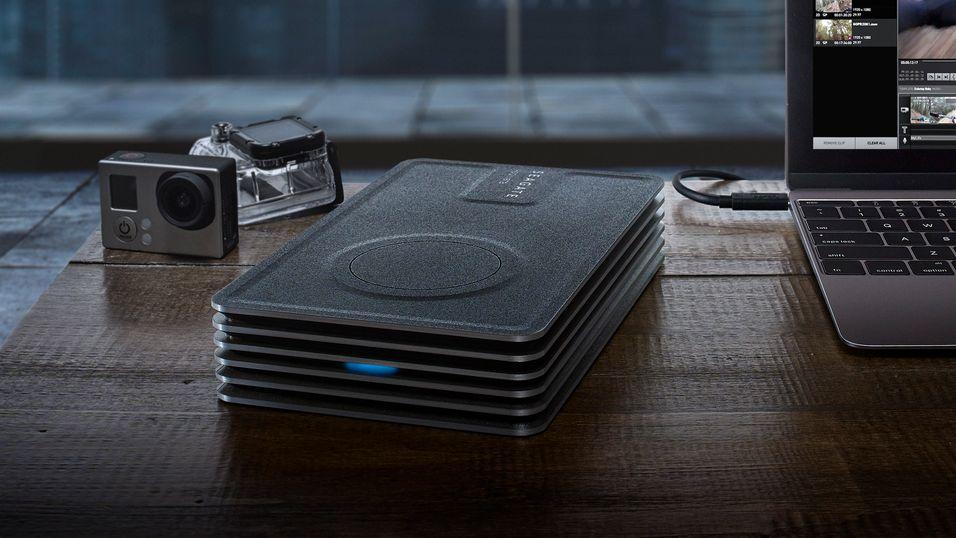 Denne harddisken på 8 TB trenger kun strøm fra USB-porten
