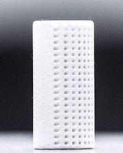 Skal erstatte betong: En 3D-produsert sylinder, laget blant annet ved hjelp av kalk og CO2. Et av målene nå er å lage en fem meter lang enhet.