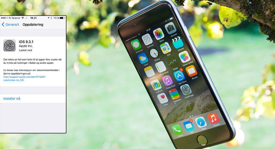 Hvis du har opplevd trøbbel med iOS 9.3, eller vil være sikker på å unngå det, er det på tide å oppdatere.