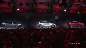 Fra lanseringen av Tesla Model 3.