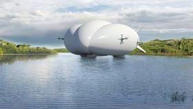 Nær bakken eller vannet fungerer luftskipet som et luftputefartøy.