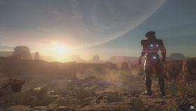 Et stillbilde fra Mass Effect: Andromeda-visningen i fjor.