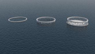 Flere oppdrettsanlegg kan stå lang ute til havs eller i fjorder med røffe forhold, og tilsammen utgjøre et anlegg. Merdene kan ved å deballasteres heves i korte perioder for vedlikehold. Når fisken befinner seg i merden, som har toppen på 10 meters dyp, skal den være mindre utsatt for lakselus.