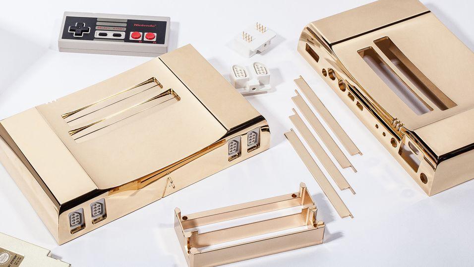 Hva med en gullbelagt NES-konsoll?