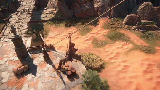 Entrehake og zipline byr på nye måter å håndtere både fiender og fjellvegger på.