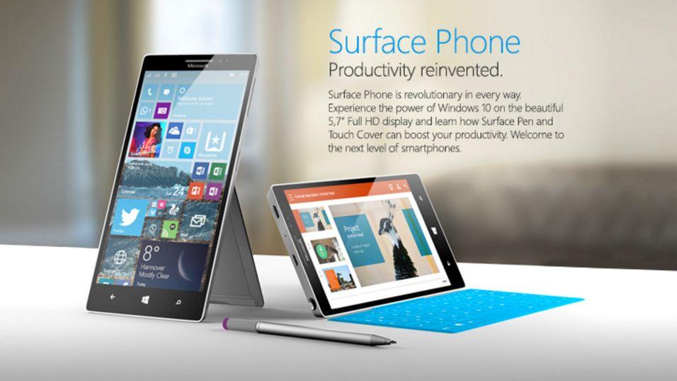 Konseptbilde. Både tastaturet og den utslagbare foten er hentet direkte fra Surface-nettbrettene til Microsoft.