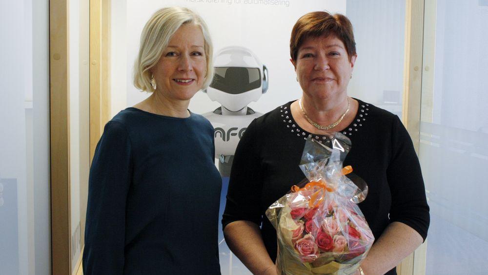 Fra venstre styrelder Ingvild Johansen og ny administrerende direktør i NFA, Karin Sundsvik