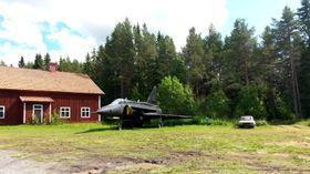 Utstilt Saab 37 Viggen.