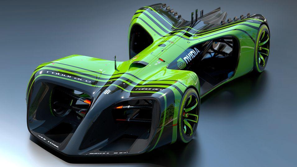 Slik skal i alle fall én av de nye førerløse racerbilene se ut.