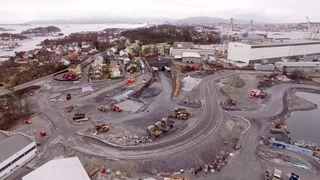 Se unike bilder fra Norges største veiprosjekt