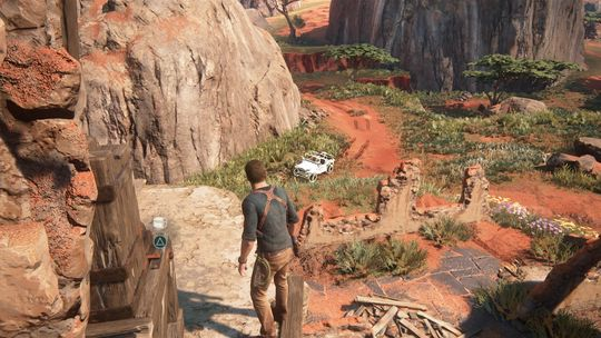 Du kan gå ut av bilen og utforske til fots når du vil.