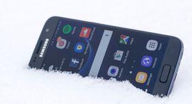 Galaxy S7 liker å bade i snø og vann. Det vil kanskje Note 6 gjøre også.