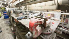 Selv en tunnelboremaskin trenger et lite verkstedområde for å gjøre unna lett vedlikehold.