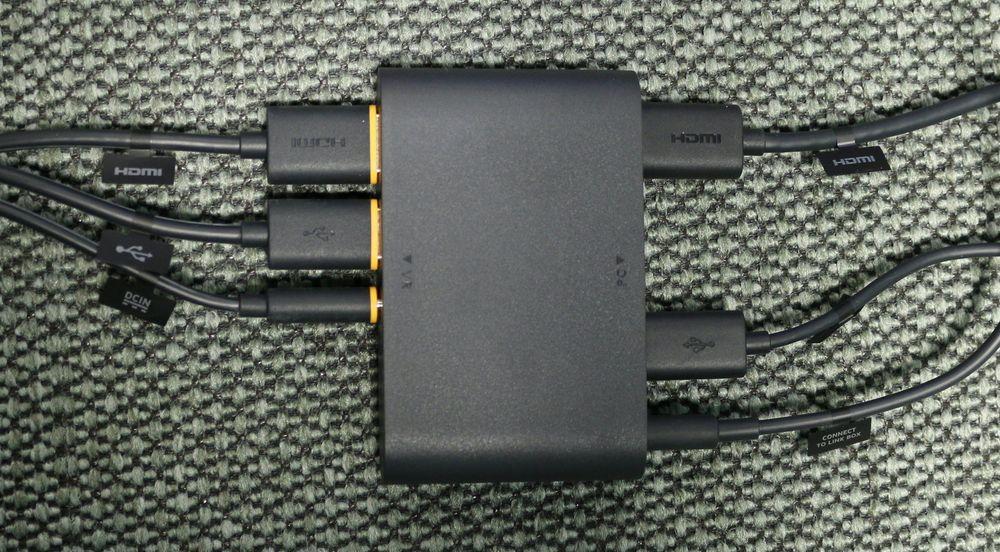 Ferdigkoblet linkboks sett ovenfra.