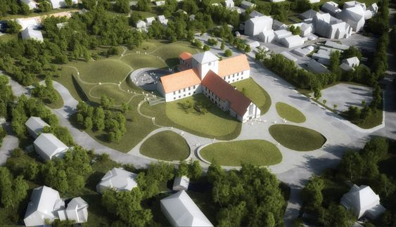 På andreplass kom forslaget Vikingetiden på ny av JAJA Architects/Coast studio. Juryen skriver at bidraget «med et lavmælt og organisk grep skaper et nytt museumslandskap over og under bakken tilpasset stedet og Arnebergs arkitektur».