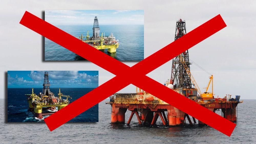 Både Ocean Vanguard (t.h), COSL Pioneer og COSL Innovator har blitt terminert eller suspendert av Statoil.