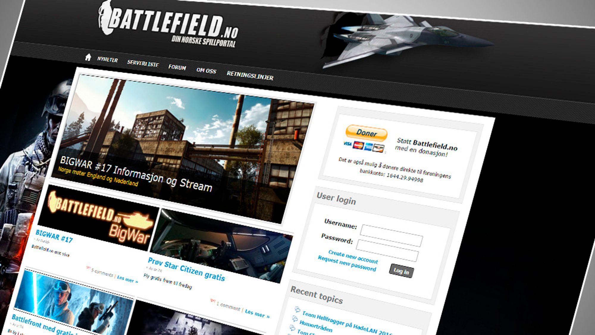 Battlefield.no og flere andre norske spillsamfunn står i fare for å bli lagt ned