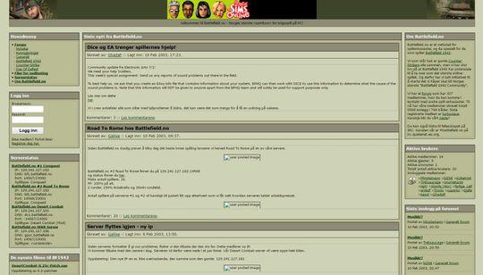 Slik så Battlefield.no ut februar 2003.