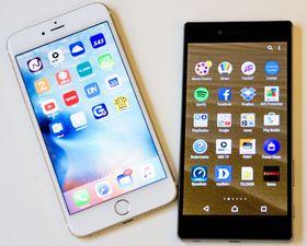 iPhone 6 Plus og Xperia Z5 Premium er nå å få i nøyaktig likt fargeutvalg.