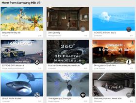 Utvalget av Samsungs Milk VR-innhold øker stadig.