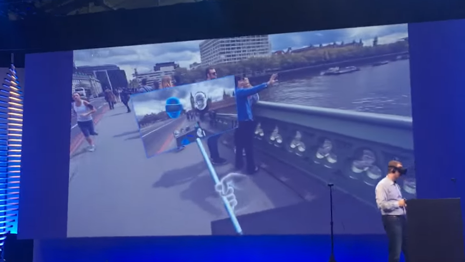 Her tas et virtuelt selfie-bildet fra inne i VR-verdenen.