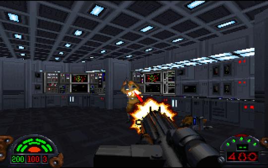 Dark Forces byr på mange varierte våpen som oppfordrer deg til å spille strategisk, men det er lite som slår følelsen av stormtroopernes klassiske E-11-rifle.